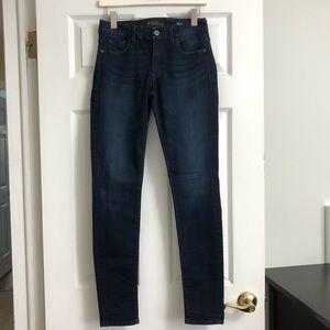 GUESS Dark Wash Curvy Sophia Skinny Jeans Size 29